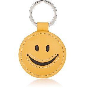 Barneys New York Smiley Face Keychain